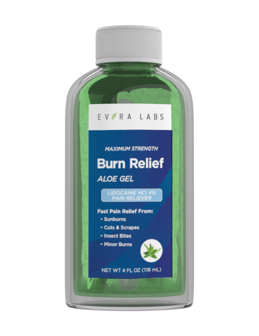 private label Burn Relief Gel max strength