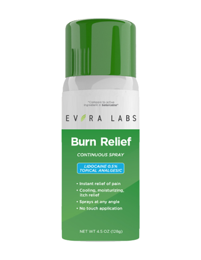 private label burn relief spray