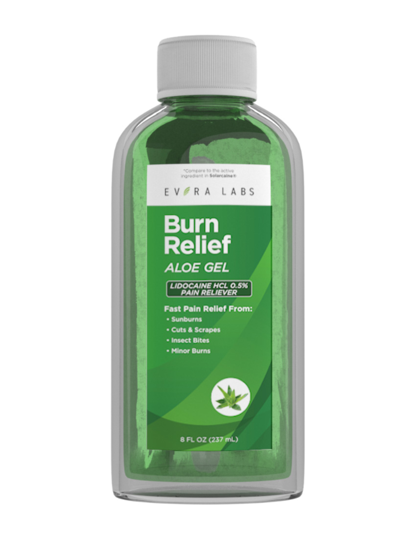 private label Burn Relief Gel